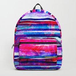 neon pink lines Backpack