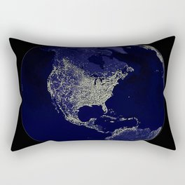 Earth Globe Lights Rectangular Pillow