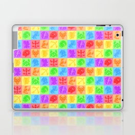 Zodiac Zentangle - All signs (Rainbow Ver.) Laptop & iPad Skin