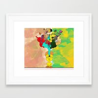 chakra Framed Art Prints featuring Chakra by Omnii