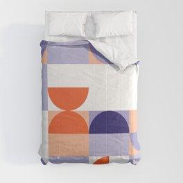Minimal Bauhaus Semi Circle Geometric Pattern 1 - #bauhaus #minimalist Comforters