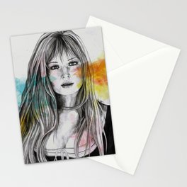 Monica (sexy pencil portrait of Monica Vitti) Stationery Cards