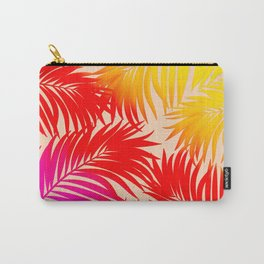 Palm Tree Fronds Multi Colour Vivid Hawaii Tropical Décor Carry-All Pouch