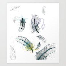 Envolée de plumes Art Print