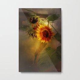 Dark Sunflowers Metal Print