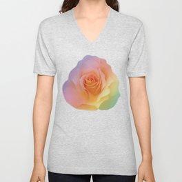 Rainbow rose of joy Unisex V-Neck