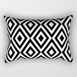 Motif Diamond Black white Rectangular Pillow