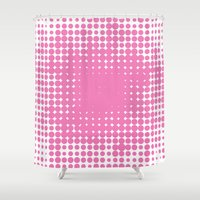blush Shower Curtains featuring Blush by Sylvia Loves Design