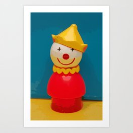Fisher Price Clown Art Print