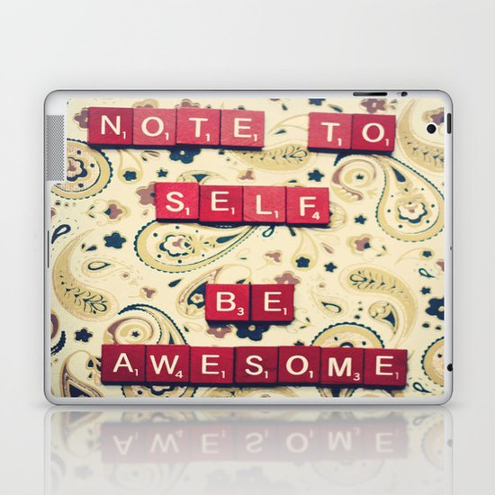 Note to Self Laptop & iPad Skin