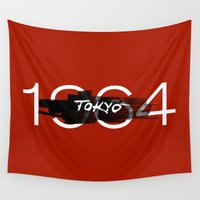 tokyo Wall Tapestries featuring Tokyo by Artworks by PabloZarate Inc.