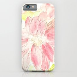 Abstract Red Daisies iPhone Case