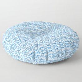 Dividers 07 in Light Blue over White Floor Pillow