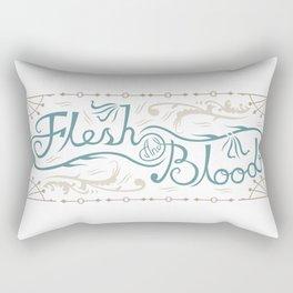 Flesh and Blood Rectangular Pillow