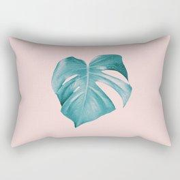 Monstera Leaf #2 #tropical #decor #art #society6 Rectangular Pillow
