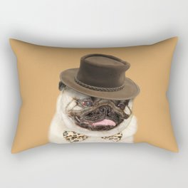 Dog pug with hat Rectangular Pillow