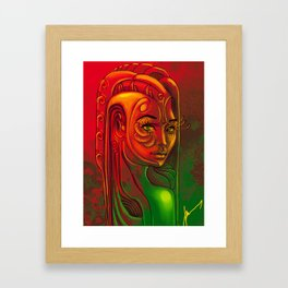 Looking back at you Framed Art Print