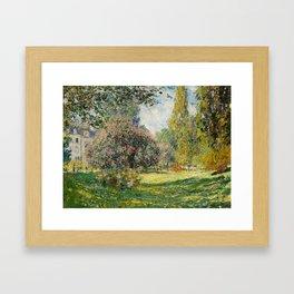 The Parc Monceau by Claude Monet Framed Art Print