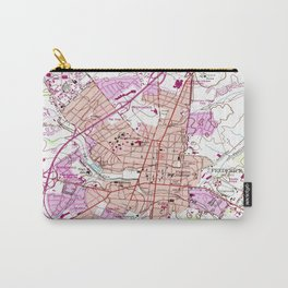 Vintage Map of Frederick Maryland (1953) Carry-All Pouch
