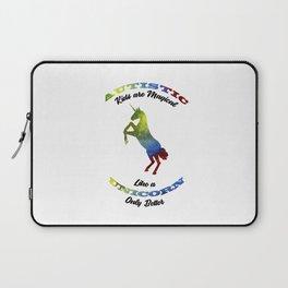 Magical Unicorn Autism Awareness Day Autistic Gift Laptop Sleeve
