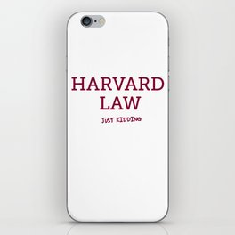 Harvard Law iPhone Skin