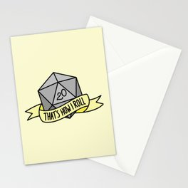 That's How I Roll D20 Stationery Cards