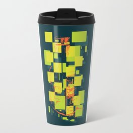 Color Orange Juice Illustration Travel Mug