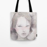 river song Tote Bags featuring song by Shiro
