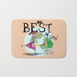 The best mom (Retro) Bath Mat