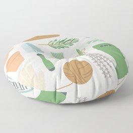 Herb Garden Floor Pillow