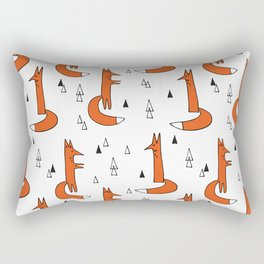 Cute Graphic Ginger Foxes Rectangular Pillow