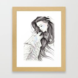 Witch Wolf Framed Art Print