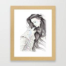 Witch Wolf Framed Art Print