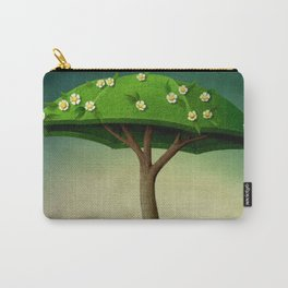 A umbrella  single flowering tree Carry-All Pouch