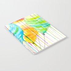 Balloons Watercolor Notebook