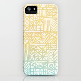 Abstract Pattern in Gradient Summer iPhone Case