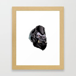 gorilla head illustration Framed Art Print