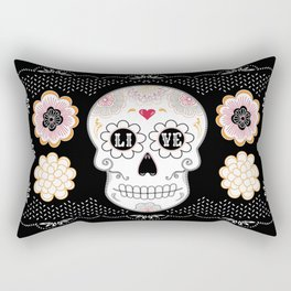 Sugar Skull Papel Picado - Day of the dead Rectangular Pillow