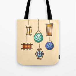 Tiki Lights Tote Bag