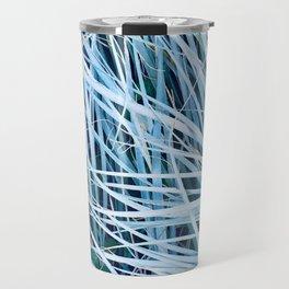 Blue Sea Grass Travel Mug