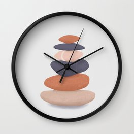 rock pile 2: minimalist balancing stones Wall Clock