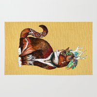 wizard Area & Throw Rugs featuring Wizard Cat by Sandra Dieckmann