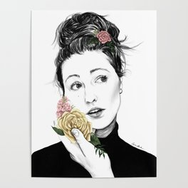 Delicate rose - floral portrait 1 of 3 Poster