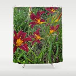 Tiger Lily Garden Shower Curtain