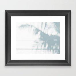 palm shadow Framed Art Print