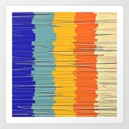 Shredded Stripes Art Print