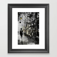 down CHINATOWN Framed Art Print