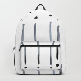 black and white dots and dashes boho modern Backpack