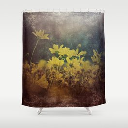 Abstract Yellow Daisies Shower Curtain