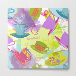 Aromas of Tea and Coffee Metal Print